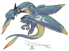 Serpent Dragon from Breath of Fire IV ★ || CHARACTER DESIGN REFERENCES™ (https://www.facebook.com/CharacterDesignReferences & https://www.pinterest.com/characterdesigh) • Love Character Design? Join the #CDChallenge (link→ https://www.facebook.com/groups/CharacterDesignChallenge) Share your unique vision of a theme, promote your art in a community of over 45.000 artists! || ★