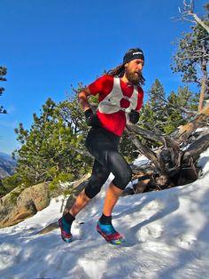 Anton Krupicka.  Ultramarathon trail runner.  Amazing athlete who approaches running from a minimalist perspective.