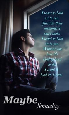 Maybe Someday By Colleen Hoover. I keep reading this book over and over again and the songs. <3