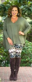 Any Day Any Time Piko Top - Olive