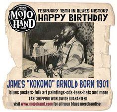 Today in Blues History.... Kokomo Arnold is Born Feb 15, 1901 www.mojohand.com Like my page to keep up on what happens each day in Blues History! https://www.facebook.com/todayinblueshistory