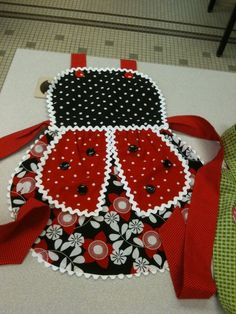 Cute Lady Bug Apron  Sew many posibilities so little time :)