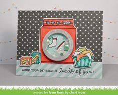 the Lawn Fawn blog: Lawn Fawn Loads of Fun card by Chari Moss.