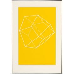 German Krystalle Collection, Yellow Krystalle 2 Framed