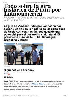 Todo sobre la gira histórica de Putin por Latinoamérica Vladimir Putin, Waiting For You, Satan, Obama, Ecards, Memes, Brazil, Crime, Youth