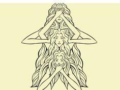 Hear no evil see no evil speak no evil - cool concept