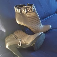 """7 for all man kind booties Brown 3"""" 3 buckle platforms. 7 for all Mankind Shoes Ankle Boots & Booties"""