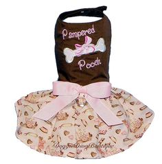 Clearance Dog Harness Dress Pampered Pooch by DoggieDivaBoutique, $24.99
