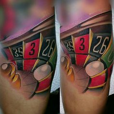 @tattoosbynicklaswongk roulette wheel tattoo