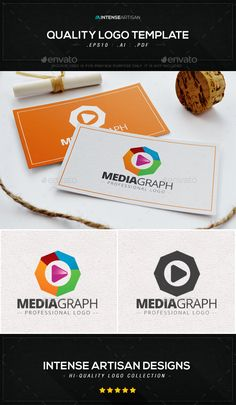 Media Graph Logo Template — Vector EPS #corporate #fine • Available here → https://graphicriver.net/item/media-graph-logo-template/8988730?ref=pxcr