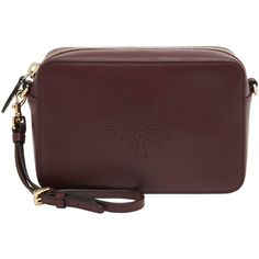 Mulberry Blossom Leather Wristlet , Oxblood ($415) ❤ liked on Polyvore featuring bags, handbags, clutches, oxblood, brown leather wristlet, leather purse, pochette, brown leather handbags and zip around wristlet