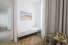 View the full picture gallery of Apartment E&E Old Building, Bunk Beds, Architecture Design, Toddler Bed, Interior Design, Bedroom, Gallery, Furniture, Vienna