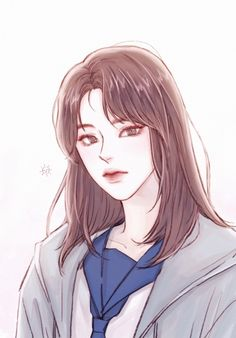 Anime Korea, Romantic Manga, Manga Girl, Girl Cartoon, Aesthetic Art, Cute Art, Art Sketches, Art Girl, Manhwa