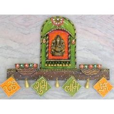 Ganpati Mandir Wall Mural - Online Shopping for Art Wall n Paintings by Zest Decor