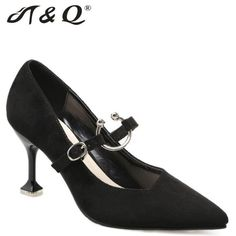 278cac7f67c9 T Q 2017 Autumn Women Pumps 8cm Fashion Sexy High Heels Shoes Shallow  Pointed Toe Thin Heel