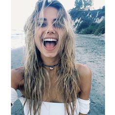 Tumblr, selfie, despeinada, playa