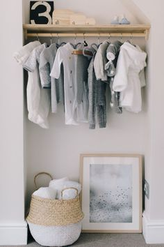 Nursery tour of little boy's room. Pale grey nursery with blush, blue, navy, mustard accents with handmade and customised pieces. Baby Bedroom, Nursery Room, Nursery Decor, Room Decor, Nursery Blinds, Babies Nursery, Nursery Storage, Baby Bedding, Nursery Design