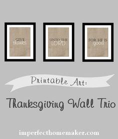 Subscriber Freebie: Printable Thanksgiving Art