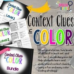 Using context clues is an important skill for students to learn. It can help them understand and learn new vocabulary, as well as, aid in comprehension of information. Unfortunately, this skill can be difficult for students to learn on their own. Click HERE for a Context Clue Tip!This BUNDLE helps t...