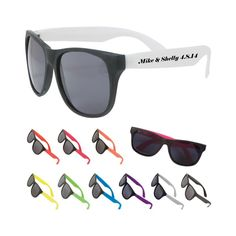 75 Personalized Matte Sunglasses, Bulk Promotional Products,Wedding Party Favor
