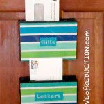 Recycled Craft: How to make a Mail Organizer from an Upcycled DVD Case