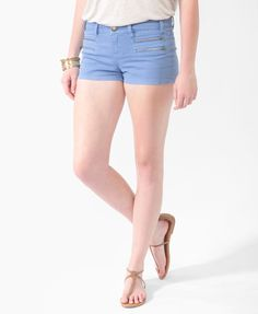 Forever21 : Life In Progress™ Zippered Colored Denim Shorts | $22.80 - Some more awesome hi-color shorts~~