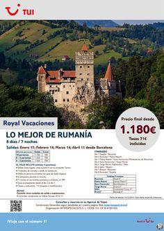 Lo Mejor de Rumanía. 7 noches. De Enero a Abril. Precio final desde 1.180€ ultimo minuto - http://zocotours.com/lo-mejor-de-rumania-7-noches-de-enero-a-abril-precio-final-desde-1-180e-ultimo-minuto-2/