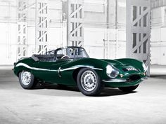 1957 Jaguar XK-SS - the most beautiful of them all - in British Racing Green.
