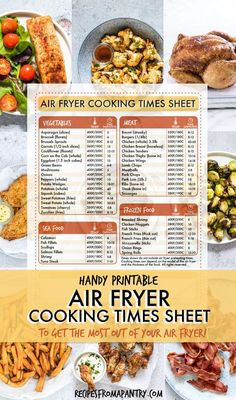 Wondering how to adjust your favorite recipes for cooking in the air fryer? Wondering how to adjust your favorite recipes for cooking in the air fryer? This handy Air Fryer Cooking T Air Fryer Cooking Times, Cooks Air Fryer, Air Fryer Dinner Recipes, Air Fryer Oven Recipes, Air Fryer Recipes Chicken Wings, Power Air Fryer Recipes, Healthy Recipes, Cooking Recipes, Easy Recipes