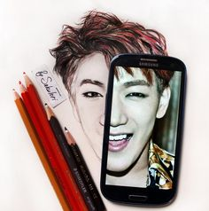 Прямая ссылка на встроенное изображение New fanart in progress. Part 2..Portrait of  @Jun2daKAY #2PM #kpopfanart #JYP #junk #2PMで妄想 #2pmcomeback #2PMGOCRAZY