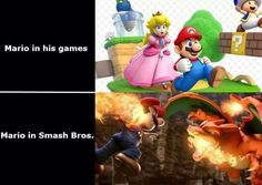 I swear all of the happy cute characters get like more badass in smash bros<< you're not wrong Super Mario Memes, Super Smash Bros Memes, New Super Mario Bros, Video Game Memes, Video Games Funny, Funny Games, Dark Souls, Nintendo Sega, Mario And Luigi