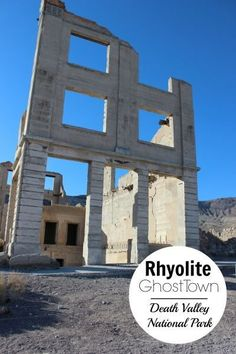 Death Valley National Park has several ghost towns that visitors can drive through, including Rhyolite, the largest in the park. This is a fun and educational place to visit. Here are our tips on making this a fun stop for both kids and adults in your fa