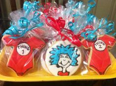 Dr. Suess Thing 1 & Thing 2 cookies!