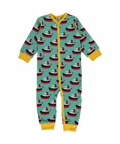 Maxomorra Rompersuit Button LS BOAT  babykleding en kinderkleding van Maxomorra. Vrolijke en duurzame kleding. Ontdek onze gigantische collectie Maxomorra.