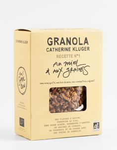 "Granola Catherine Kluger ""Honey and Seeds"" granola"