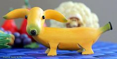 ♥ Dogana - Banog - Banana Dog! ♥ looks like a sausage dog any which way to me. - photo via Live Love Fruit