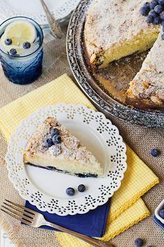 Delicious Lemon Blueberry Coffee Cake