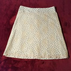 NWOT Vintage skater skirt w/sheer lace overlay NEW without tags, vintage patterned skater skirt with sheer lace overlay. Very unique, one of a kind. Invisible zipper in back of skirt. NEW w/o tags, never worn. SIZE: 38/4. Approximately 22 inches long. SMOKE-FREE home. Skirts Circle & Skater