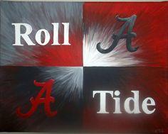 Items similar to Roll Tide - U of Alabama Painting on Etsy Roll Tide Football, Crimson Tide Football, Alabama Football, Alabama Crimson Tide, College Football, Alabama Athletics, American Football, Alabama Wallpaper, Football Wallpaper
