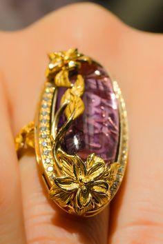 Carrera y Carrera Amethyst & Diamond Ring   Oster Jewelers