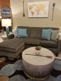 Sofa and coffee table by Flexsteel - on sale now through 3/27 at Fitterer's Furniture: Downtown Ellensburg, WA