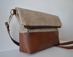 Foldover Crossbody Bag Shoulder Bag Purse by reabags on Etsy