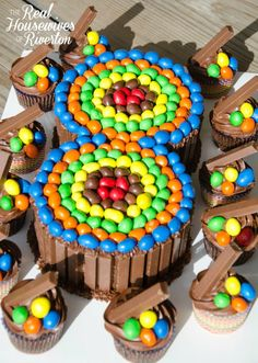 Birthday Cake - Candy Cake DIY - Housewives of Riverton 8th Birthday Cakes For Boys, Candy Birthday Cakes, Birthday Desserts, Skittles Cake, Cake Candy, Anniversaire Harry Potter, Number Cakes, Diy Cake, Creative Cakes