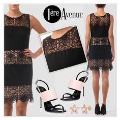 """Black lace dress by Joseph Ribkoff"" by deeyanago ❤ liked on Polyvore featuring Joseph Ribkoff and Giuseppe Zanotti"