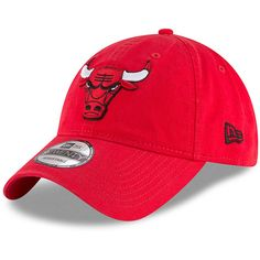 c6bdf7c062d Men s Chicago Bulls New Era Red Official 9TWENTY Team Color Adjustable Hat