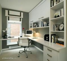 20 Lovely Small Home Office Ideas. 20 Lovely Small Home Office Ideas. The chances are you are looking for small home office solutions, if you are considering creating an office within your […] Modern Home Offices, Small Home Offices, Home Office Space, Home Office Design, Home Office Decor, Office Furniture, House Design, Office Ideas, Home Decor