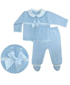 Cute three piece suit with embroidered woven peter pan collar, pretty knitted flowers for your baby girl. Adorable & branded baby clothes at cheap prices. Conkers, Three Piece Suit, Daisies, Kids Wear, 3 Months, Pretty Dresses, Long Sleeve Tops, Toddlers, Knitwear