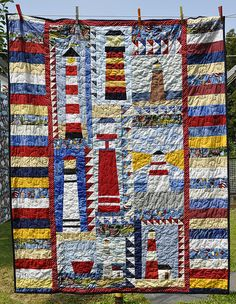 lighthouses quilt