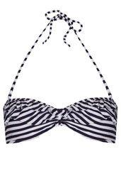 Navy Stripe Bandeau Bikini Top