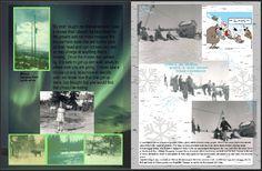 SKIING NEAR HOMER MONTY & MYRTIS WRIGHT, LEO & FLORIS RHODE, SUSAN EISENHAUER, HOMER, TERRITORY OF ALASKA by Myrtis Wright 1953/54
